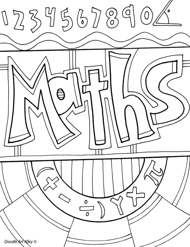 Doodle Art Alley School Subject Coloring Pages