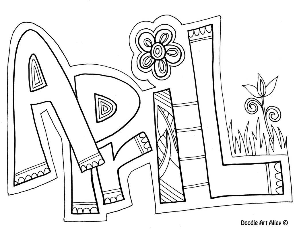 Months Of The Year Coloring Pages