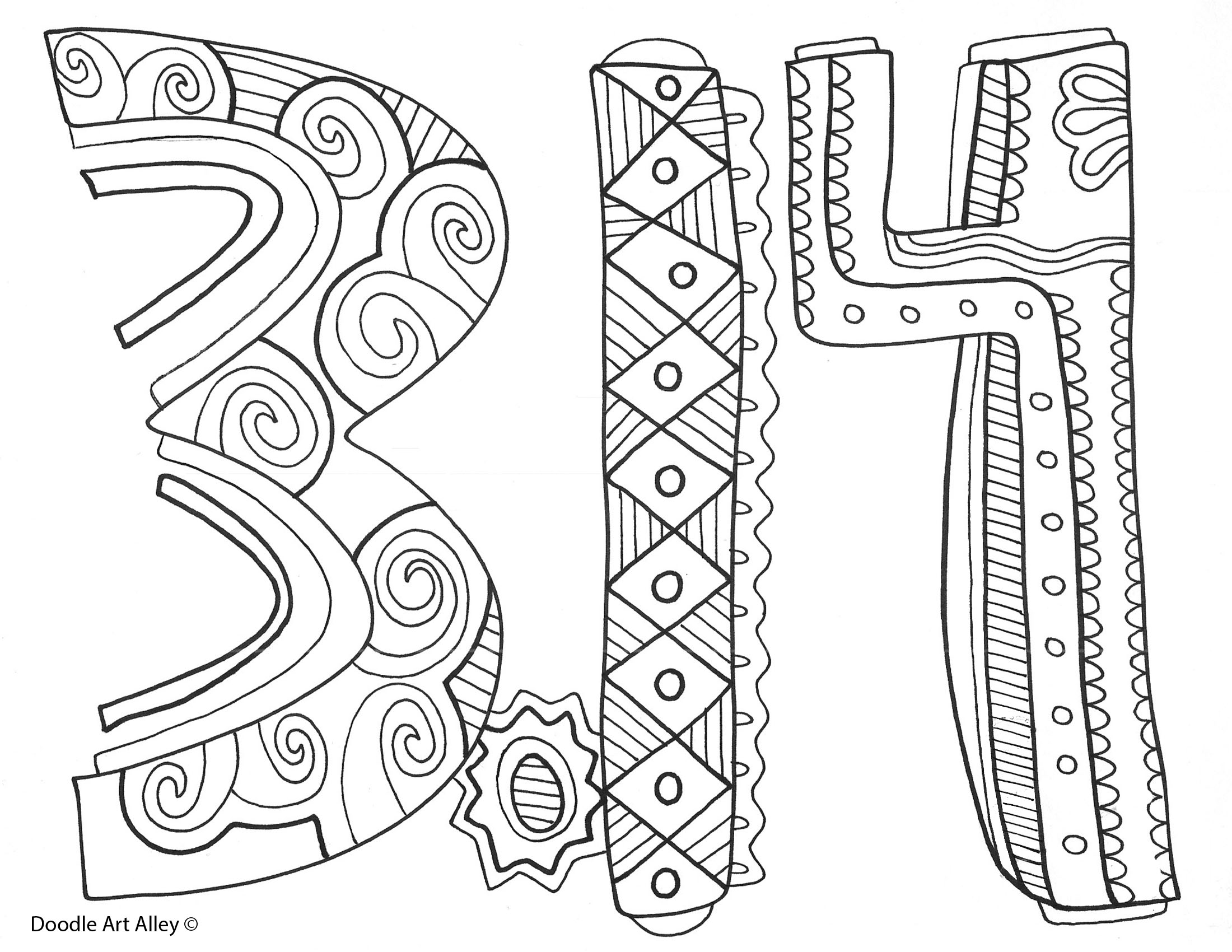 Pi Pages Coloring Pages