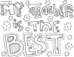 teacher appreciation coloring pages # 3