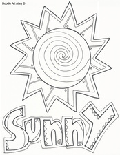 Sunny Weather Pages Coloring Pages
