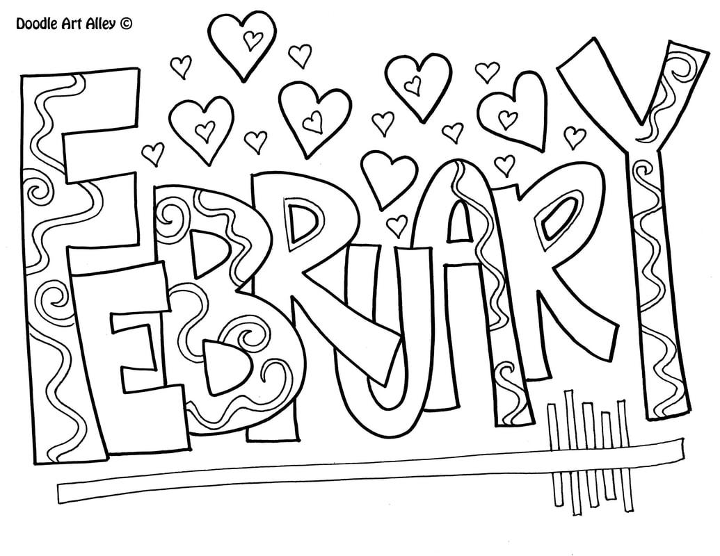February Classroom Doodles
