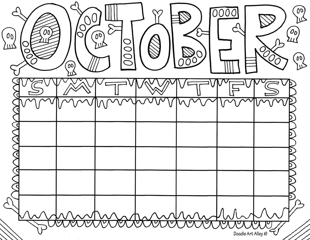October Classroom Doodles