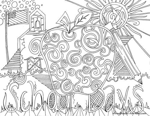 small resolution of Back to School Coloring Pages \u0026 Printables - Classroom Doodles