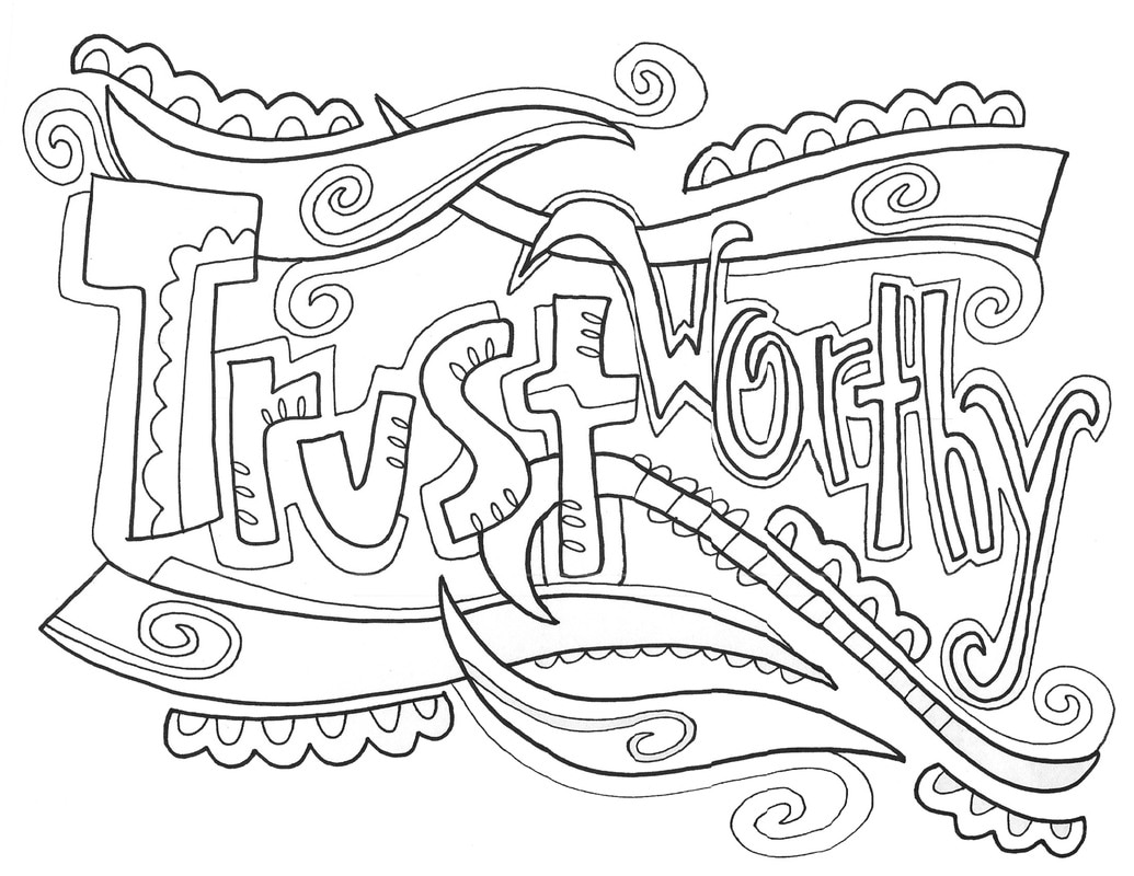 Trustworthiness Sheets Coloring Pages