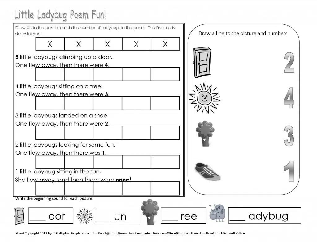 Free Lady Bug Printable
