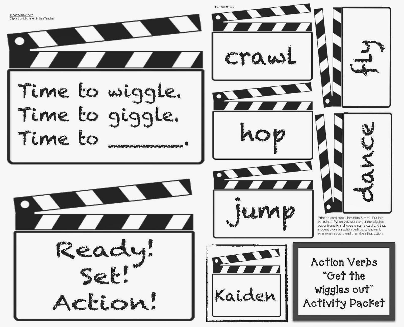 Action Verbs Activities For Classroom Management