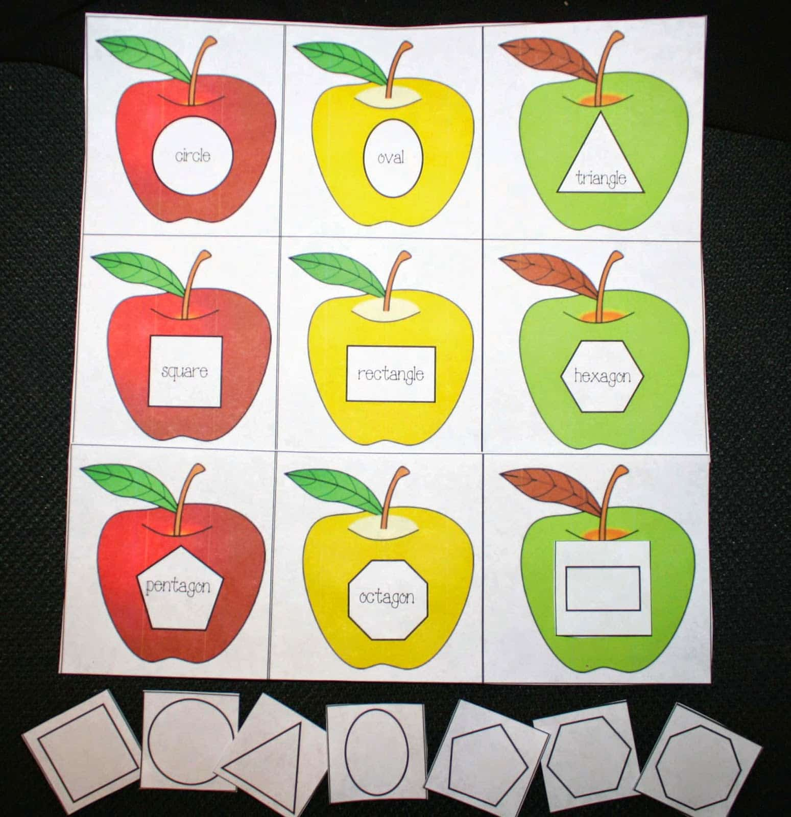 Shapely Apples Matching Game