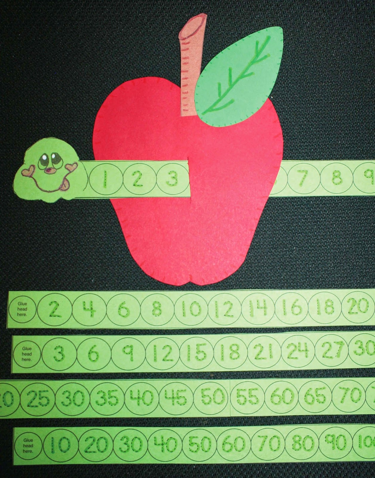 Wormy Apple Number Craftivity
