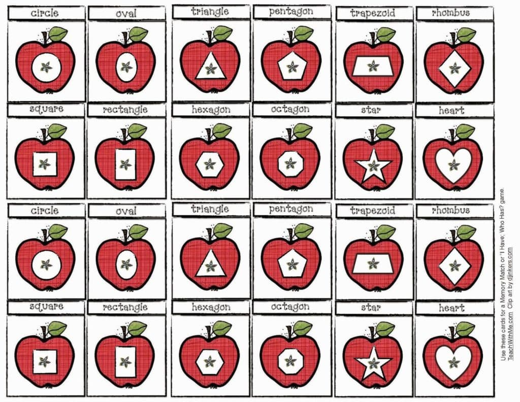 Where Is Johnny Appleseed A Shape Game