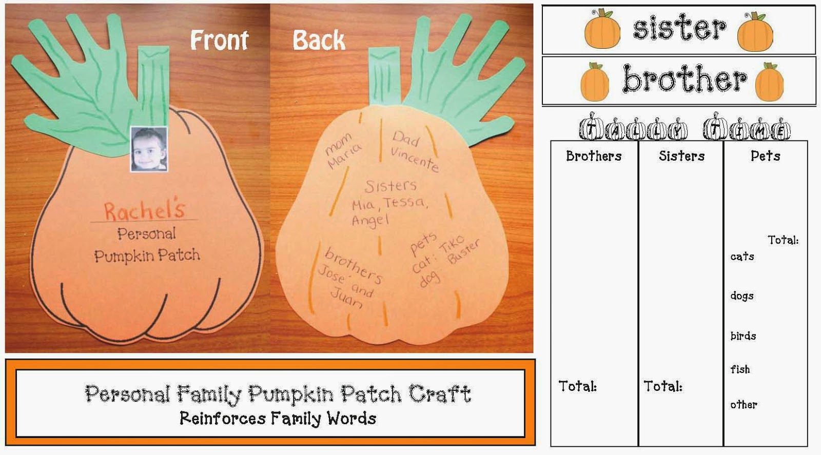 Personal Family Pumpkin Patch Craftivity