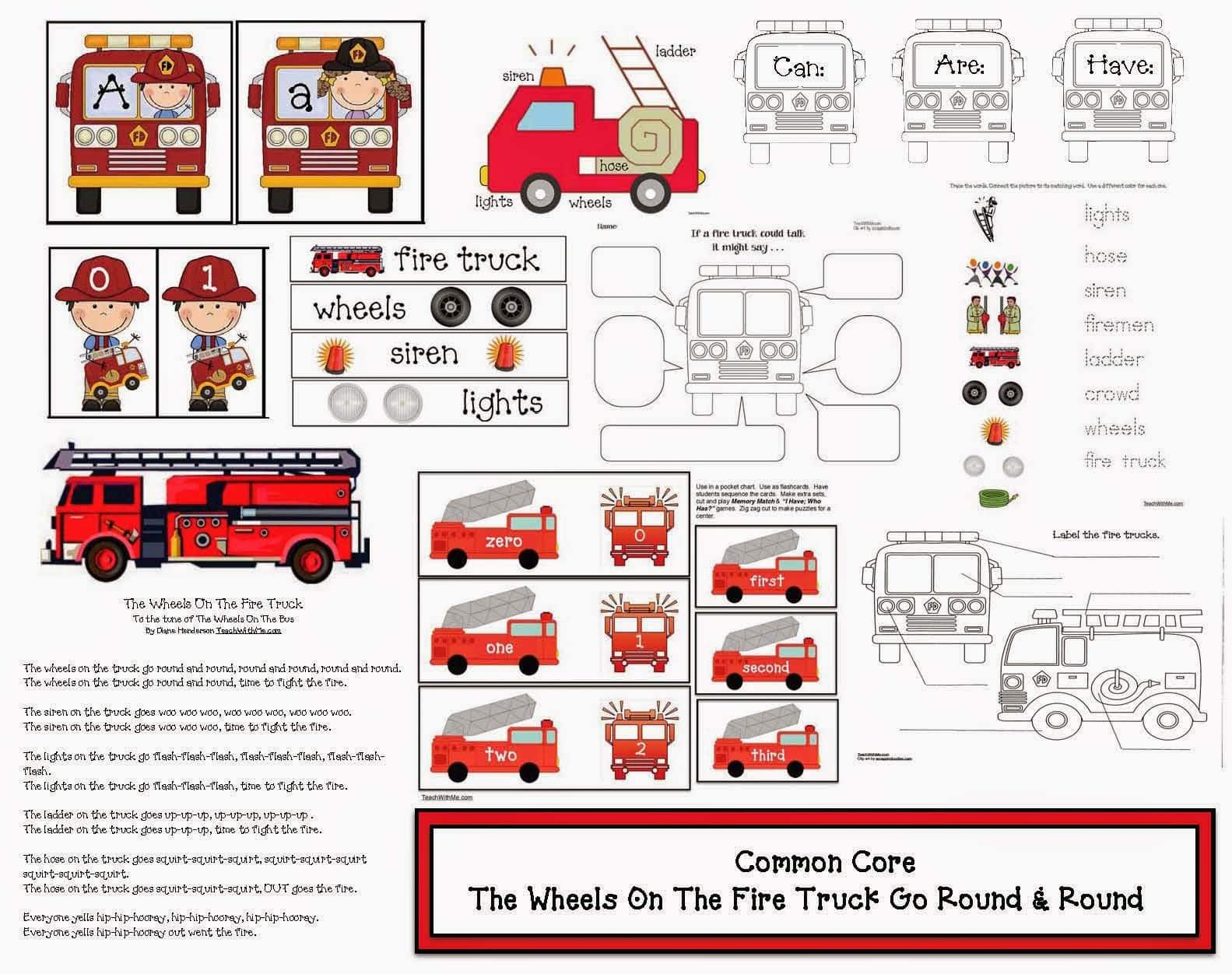 The Wheels On The Fire Truck Go Round Amp Round Common