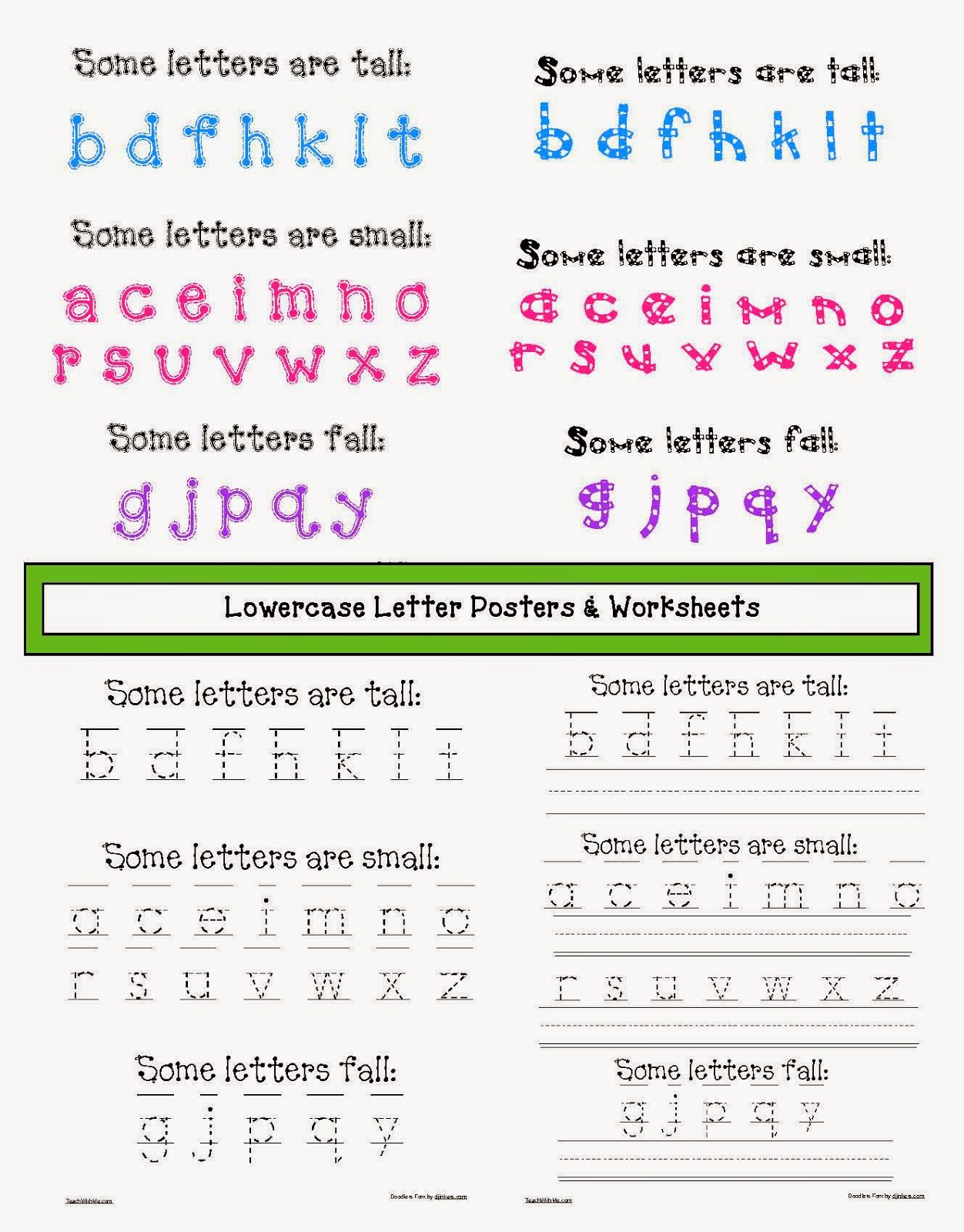 Lowercase Letter Anchor Charts And Worksheets