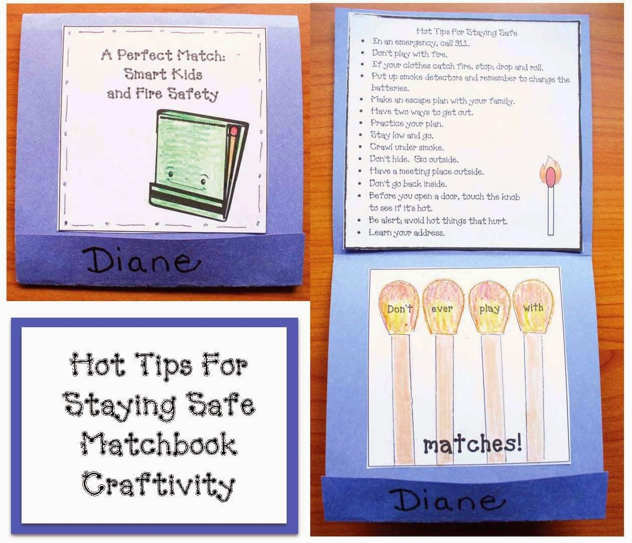 Fire Safety Matchbook Craft