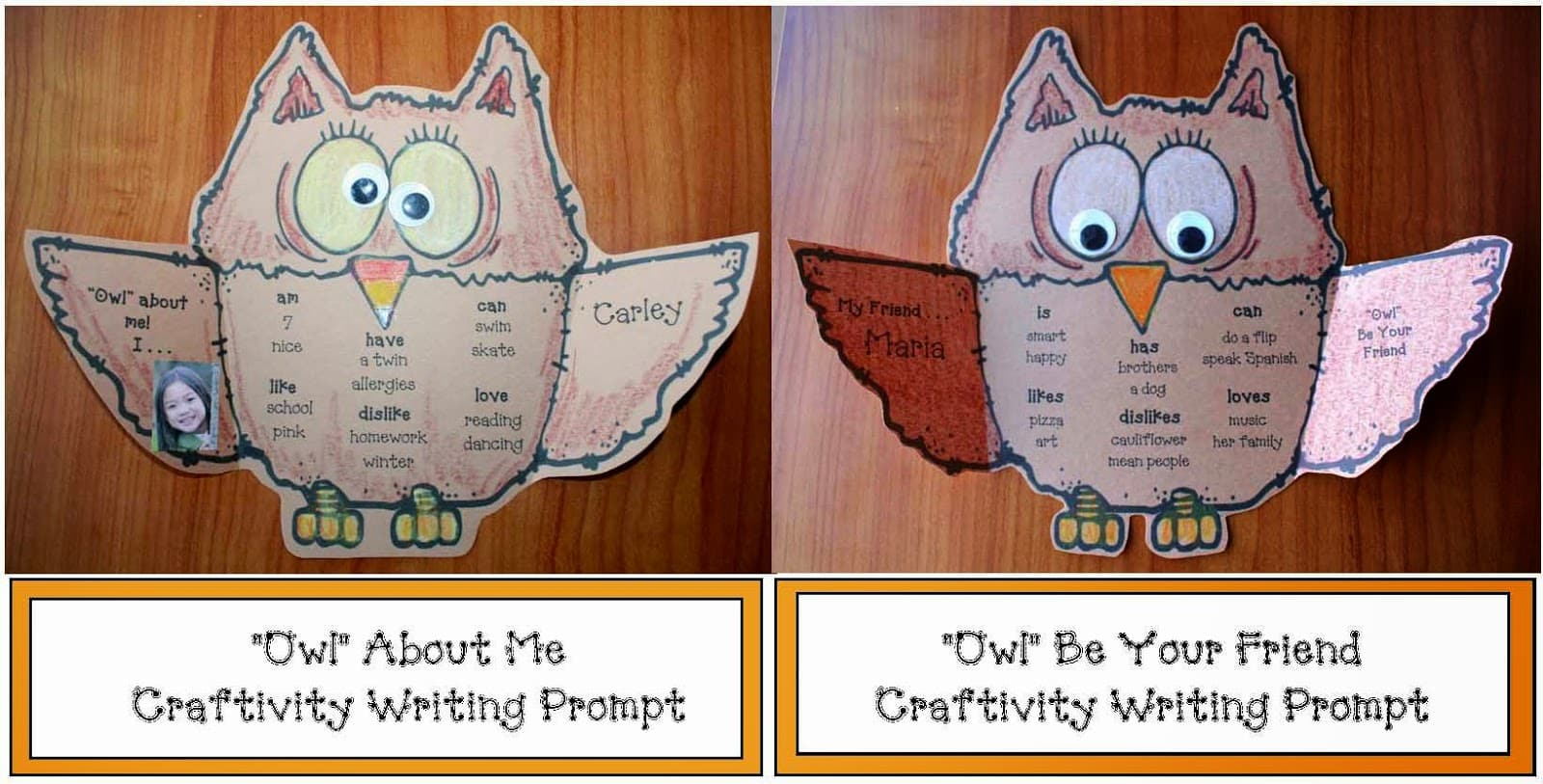 Owl Writing Prompt Craftivity