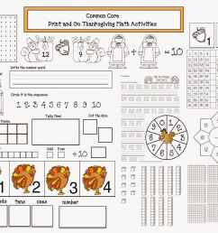 Common Core Thanksgiving Math Packet - Classroom Freebies [ 1302 x 1600 Pixel ]
