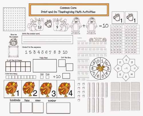 small resolution of Common Core Thanksgiving Math Packet - Classroom Freebies