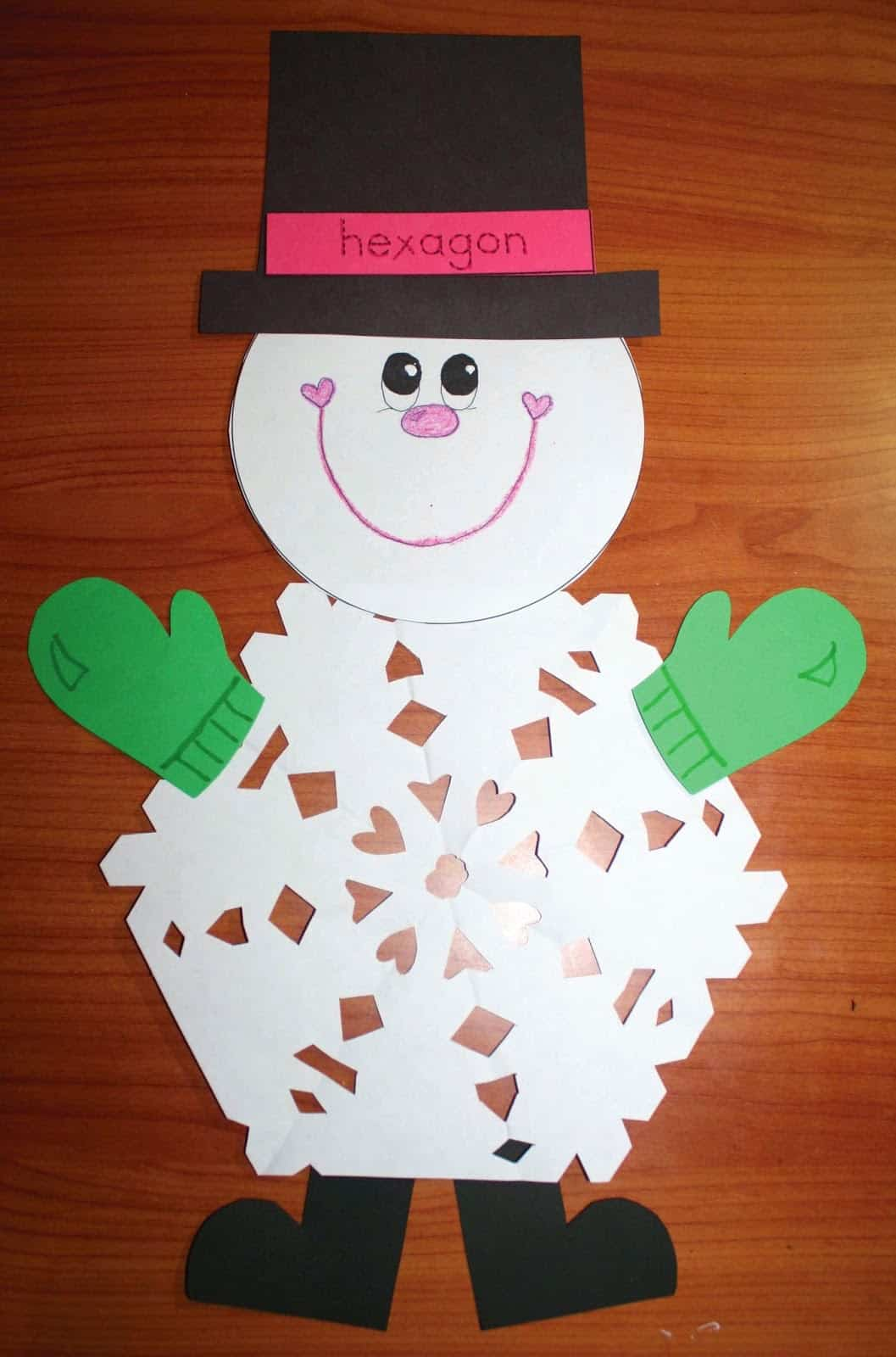 2D Shaped Snowflake Patterns Classroom Freebies