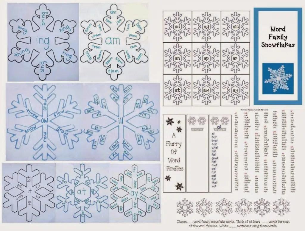 Snowflake Word Famiies Packet