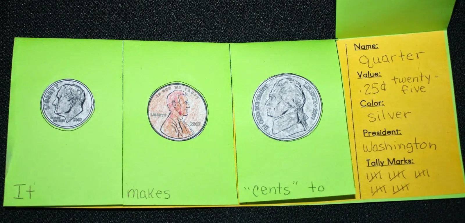 Coin Flip Booklet Craft
