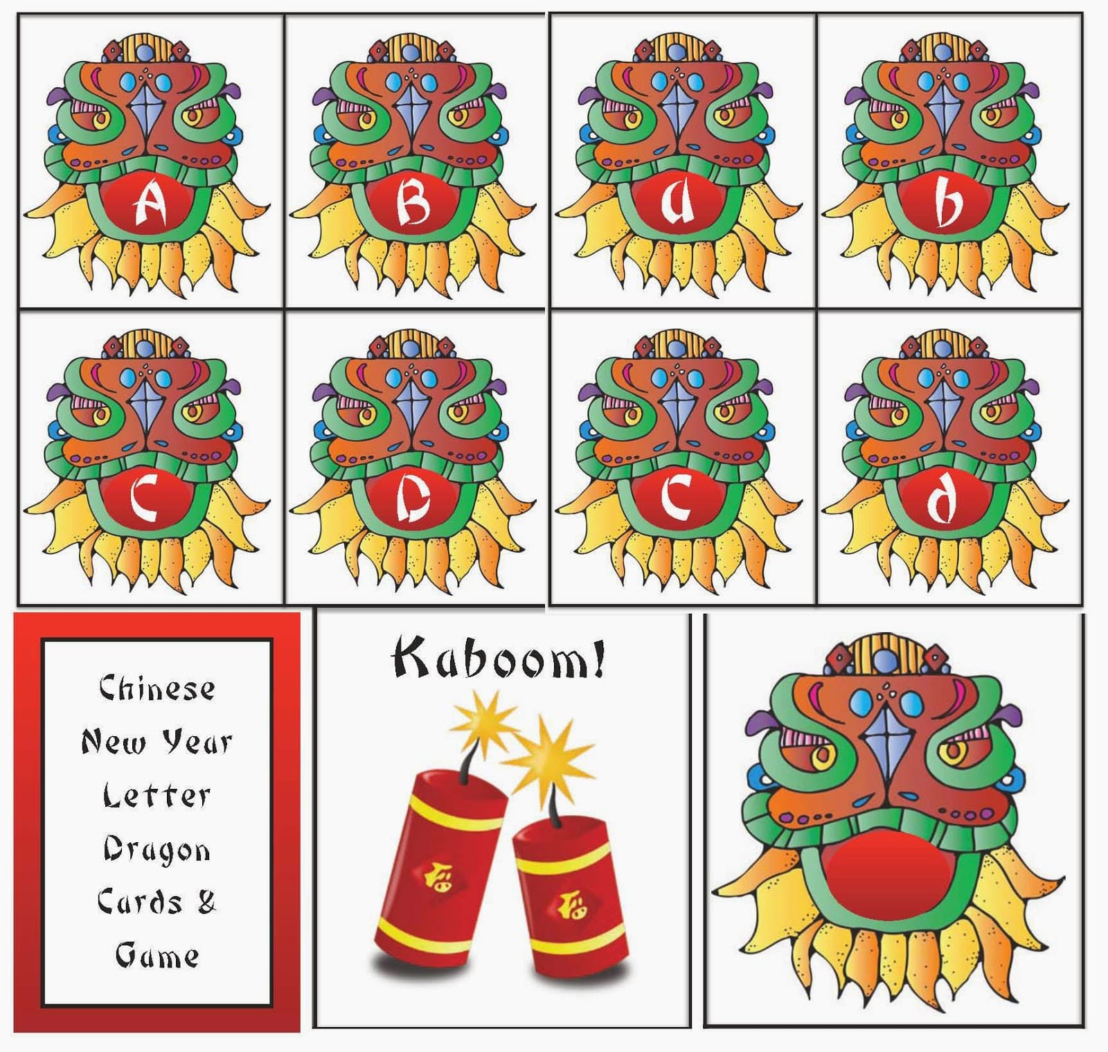 Chinese New Year Alphabet Card Game Packet