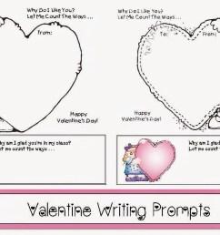 Valentine Writing Prompts - Classroom Freebies [ 787 x 1221 Pixel ]