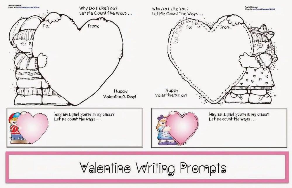 medium resolution of Valentine Writing Prompts - Classroom Freebies