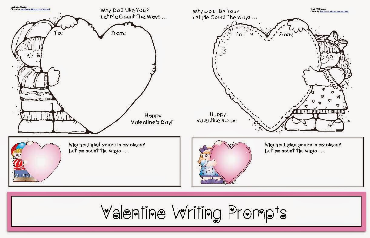 hight resolution of Valentine Writing Prompts - Classroom Freebies