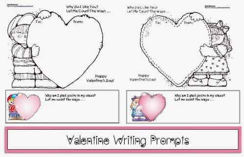 small resolution of Valentine Writing Prompts - Classroom Freebies