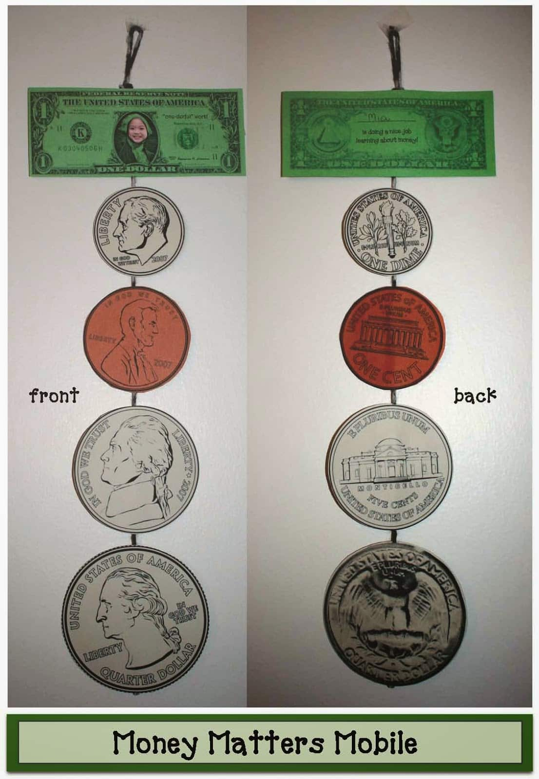 Money Matters Mobile Craftivity