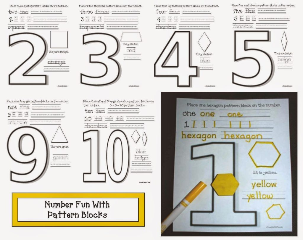 Pattern Block Number Booklet