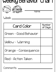 My parents appreciate the behavior charts it keeps them informed about their child   at school also weekly classroom freebies rh classroomfreebies