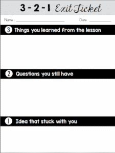 Exit Ticket Templates - Classroom Freebies