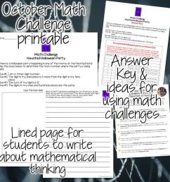FREE Halloween Math Activity 2-3 - Classroom Freebies [ 960 x 960 Pixel ]
