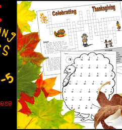 Free Thanksgiving Worksheets for Grades 3-5 - Classroom Freebies [ 806 x 1536 Pixel ]