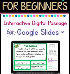 Free Beginning Reader Passage for Google Slides™ - Classroom Freebies [ 1152 x 768 Pixel ]