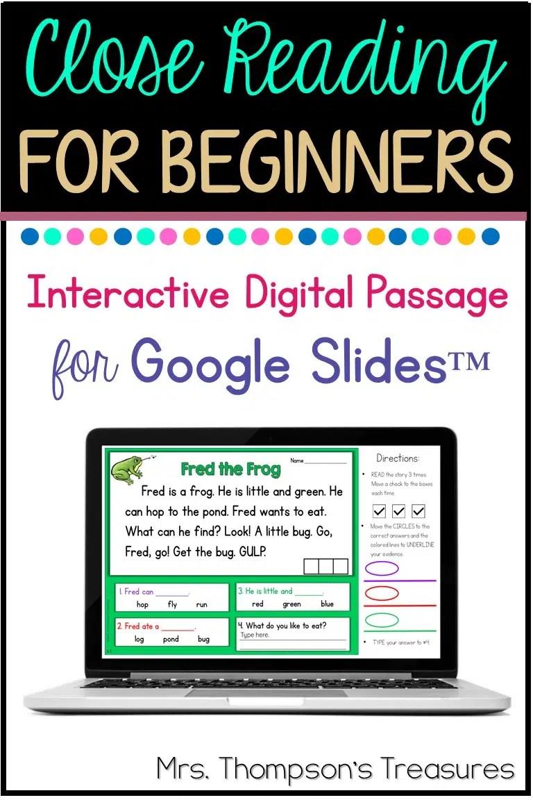 hight resolution of Free Beginning Reader Passage for Google Slides™ - Classroom Freebies