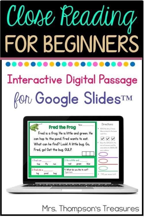 small resolution of Free Beginning Reader Passage for Google Slides™ - Classroom Freebies