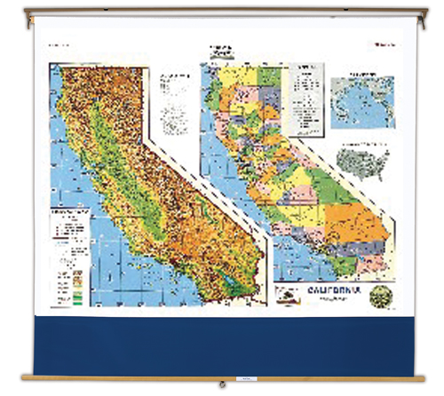 State Roller Amp Wall Maps