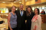 Left to right: Lisa Hegdahl, CSTA President-Elect and 8th Grade Science Teacher at McCaffrey Middle School, State Superintendent of Public Instruction Tom Torlakson, Katie Jaxheimer, SD. Bechtel, Jr. Foundation, and Cathy Ringstaff, Senior Research Associate, STEM, WestEd