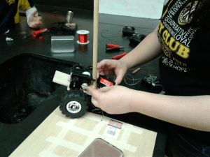 Student Task: Design and build a vehicle that will transport cargo over multiple obstacles.