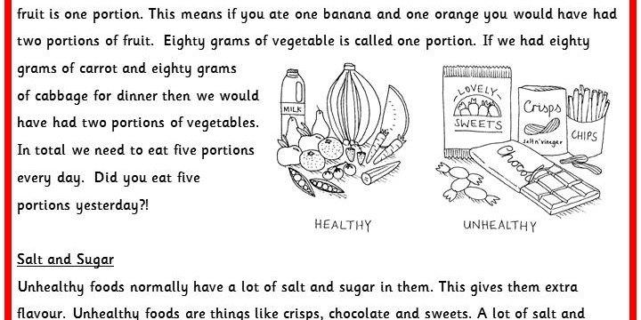 Printables. Healthy Lifestyle Worksheets