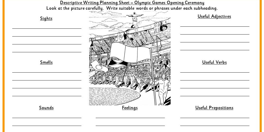 Olympic Games Opening Ceremony Descriptive Writing
