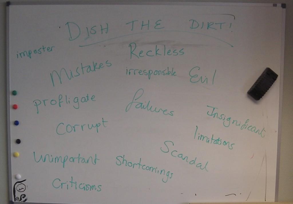 Round 2: Dish the Dirt