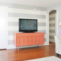 How To Paint A Living Room Wall Storage Shelves Stripes On Striped Accent Tutorial