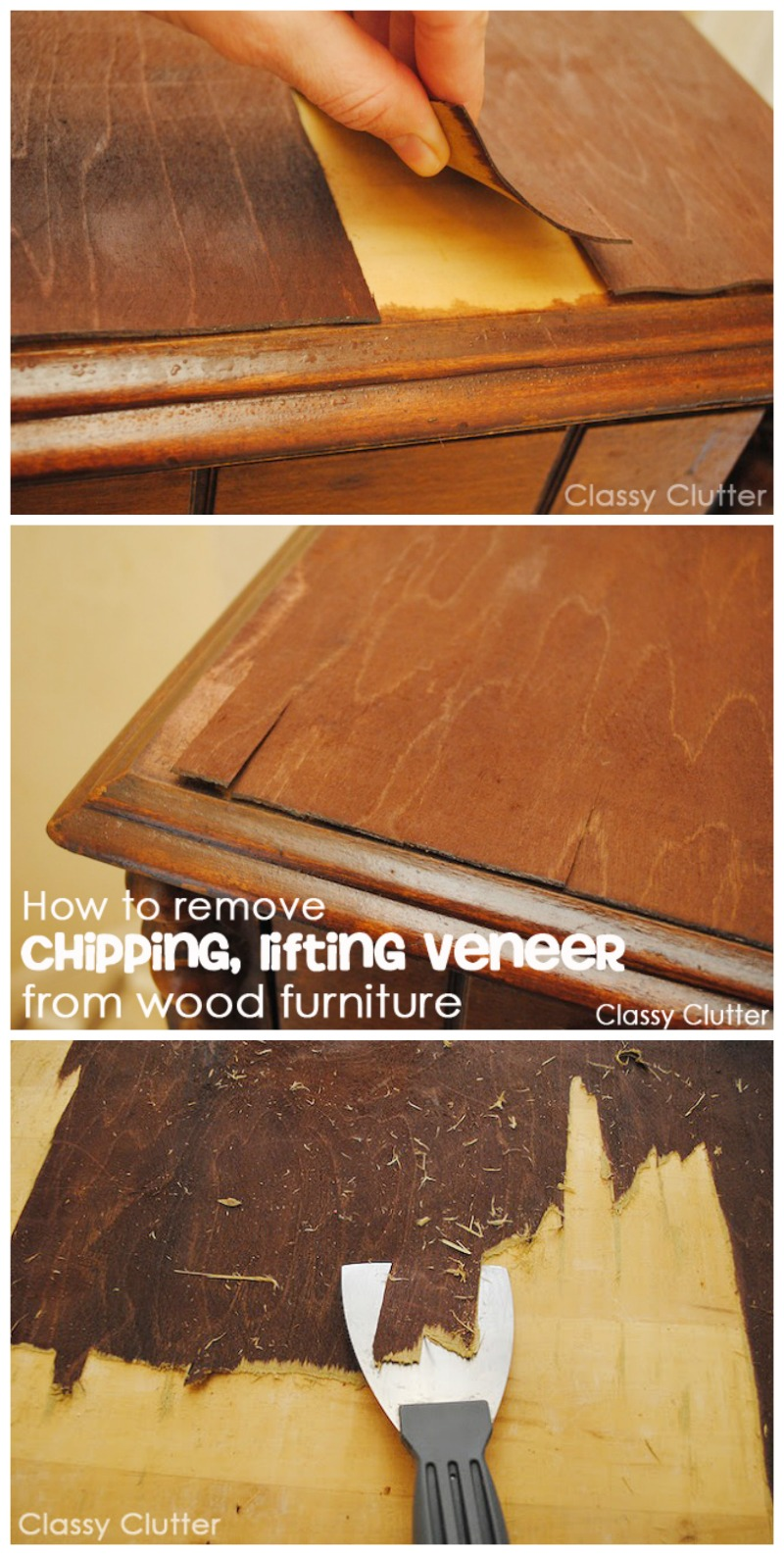 How to remove veneer from wood furniture (the easy way