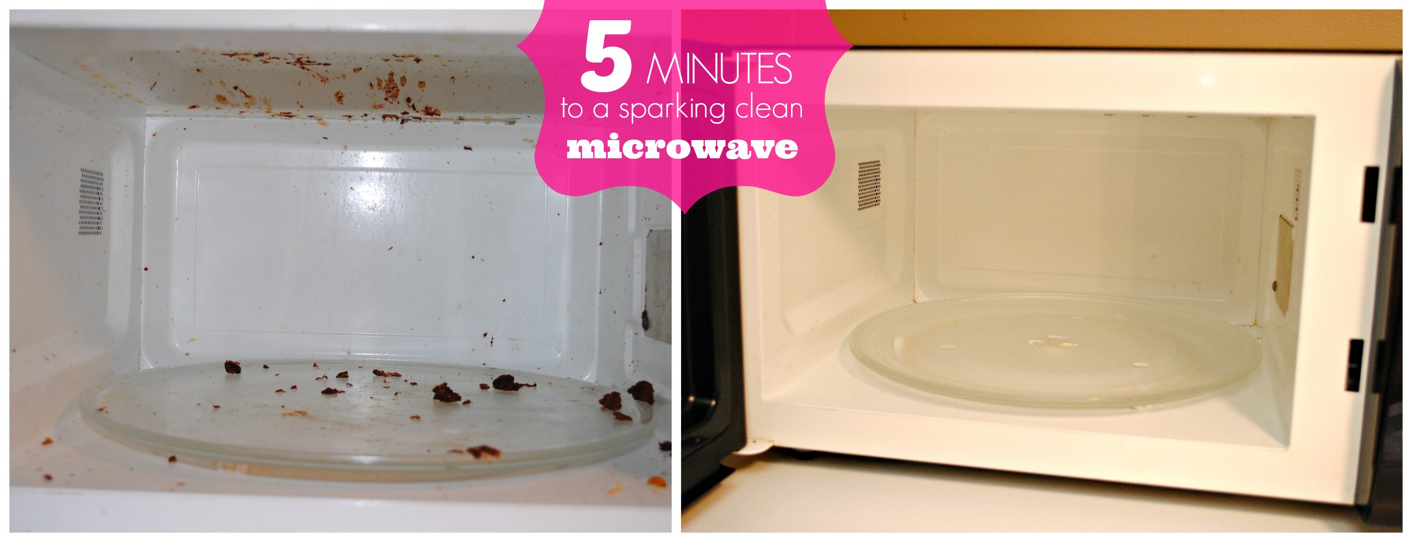 how to clean your microwave in under 5