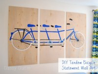 DIY Tandem Bicycle Wall Art - Classy Clutter