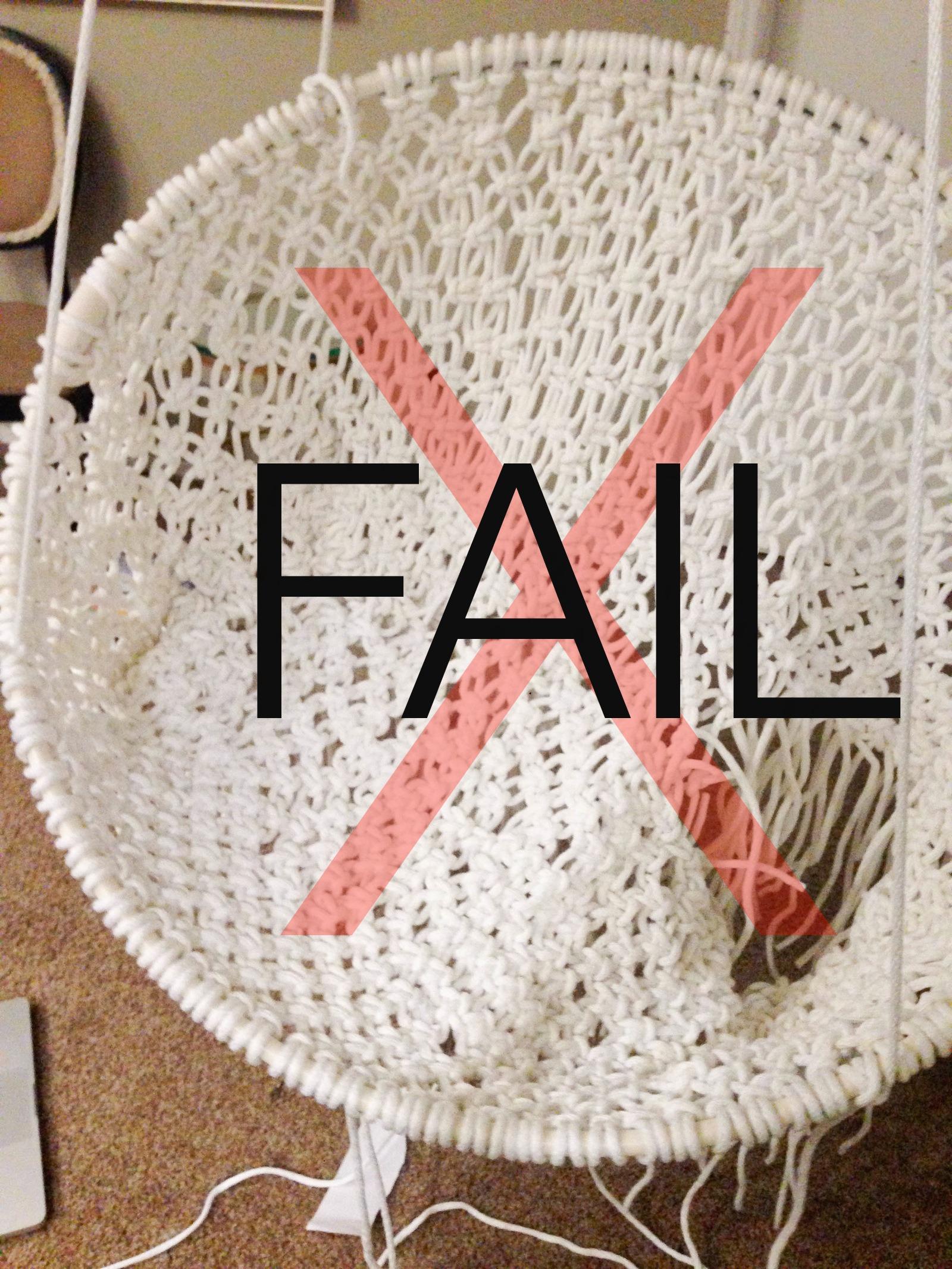 how to make a hanging chair canoe back diy macrame fail