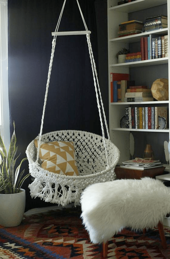 hanging chair decor cover rentals in kissimmee fl diy macrame img 6572
